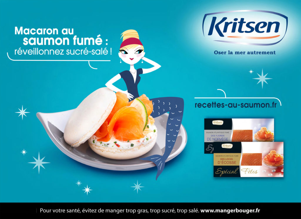 Kritsen macaron saumon fumé