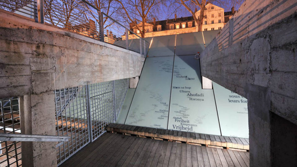 Mémorial abolition esclavage design extérieur