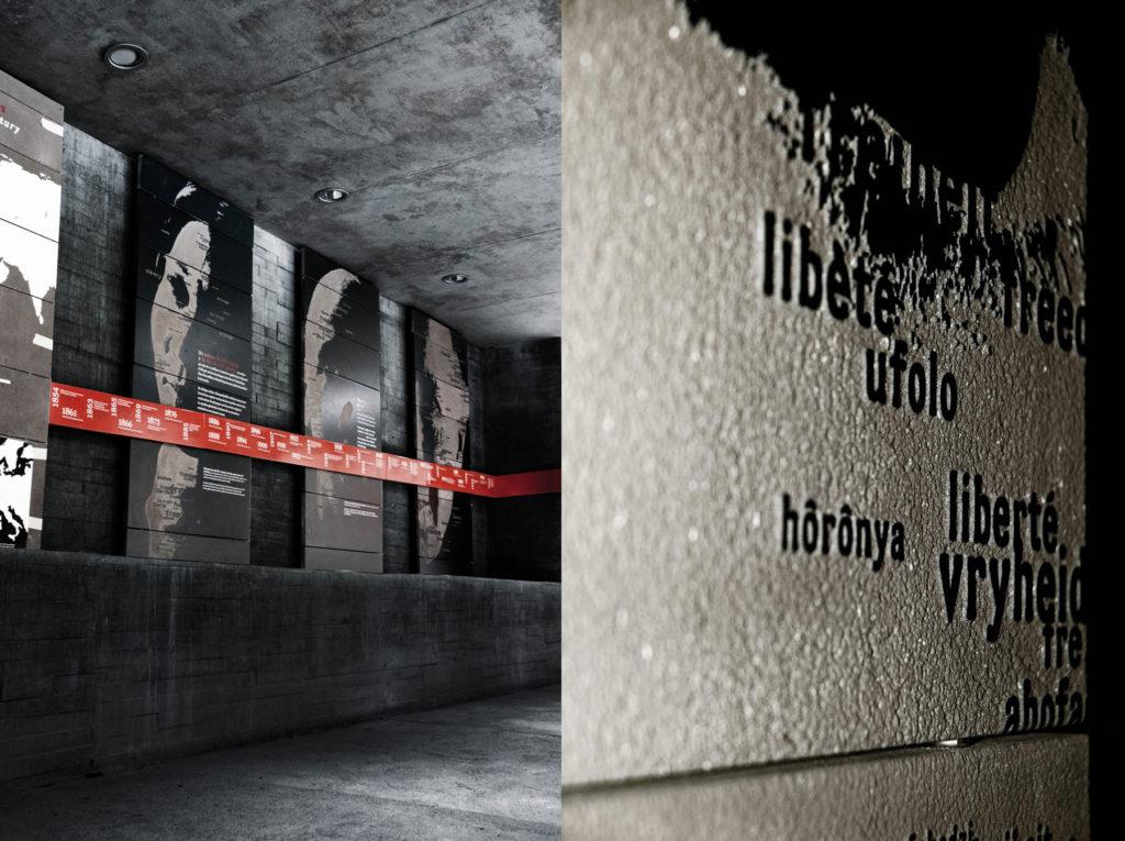Mémorial abolition esclavage design intérieur
