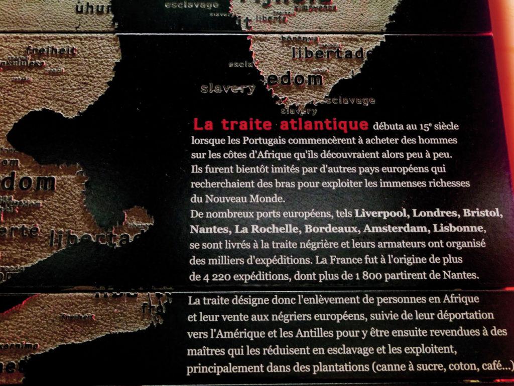 Mémorial abolition esclavage texte