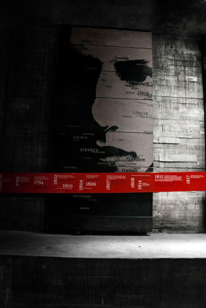 Mémorial abolition esclavage frise