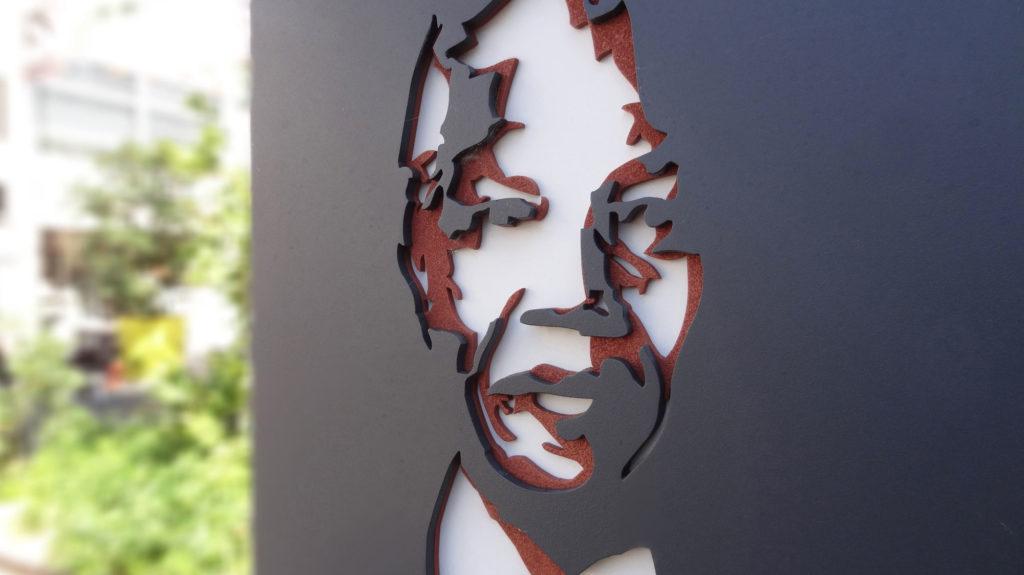 Nelson Mandela plaque relief